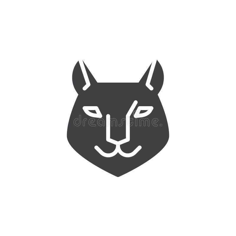 Symbol för lodjurhuvudvektor stock illustrationer