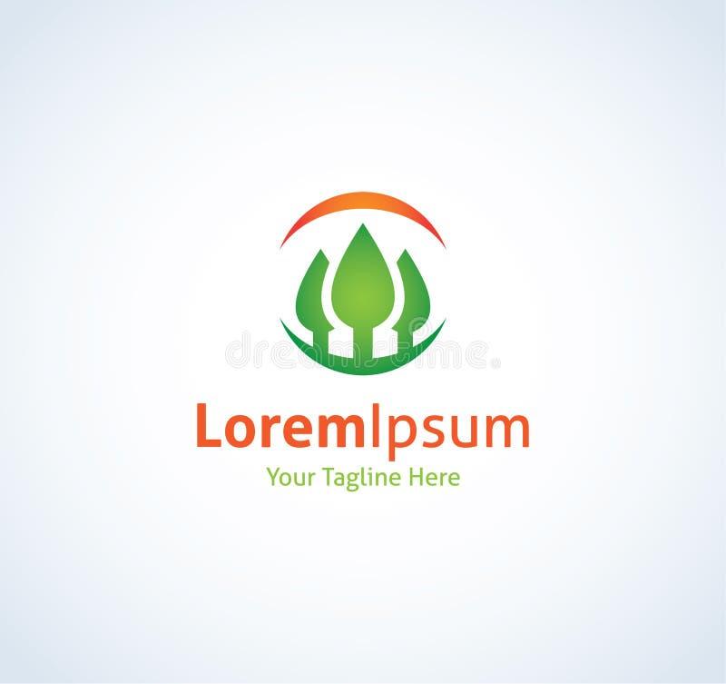 Symbol för logo för sikt för natur för cirkel för skogerfarenhetsglädje vektor illustrationer
