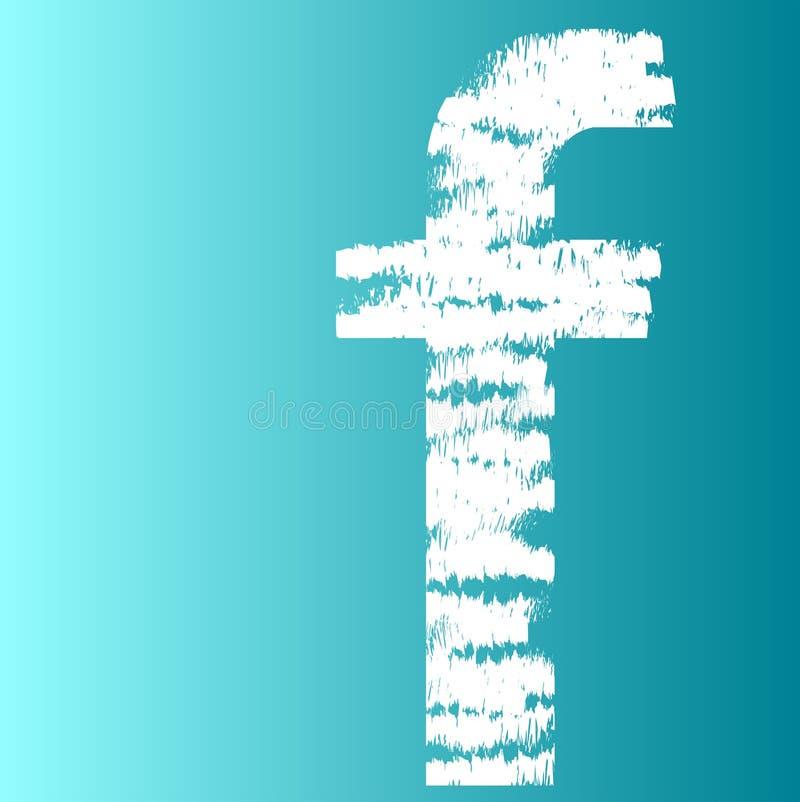 Symbol för logo för Facebook målningkonst stock illustrationer