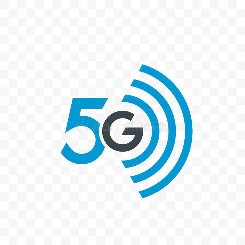 symbol för logo för vektor för nätverk för internet 5G stock illustrationer