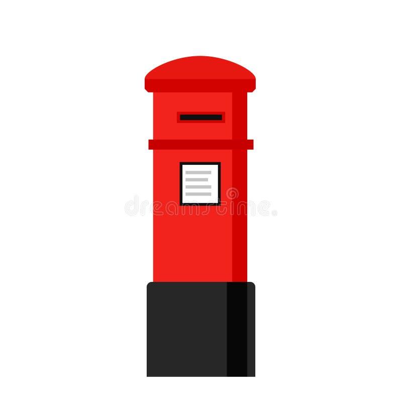 Symbol för London bokstavsask vektor illustrationer