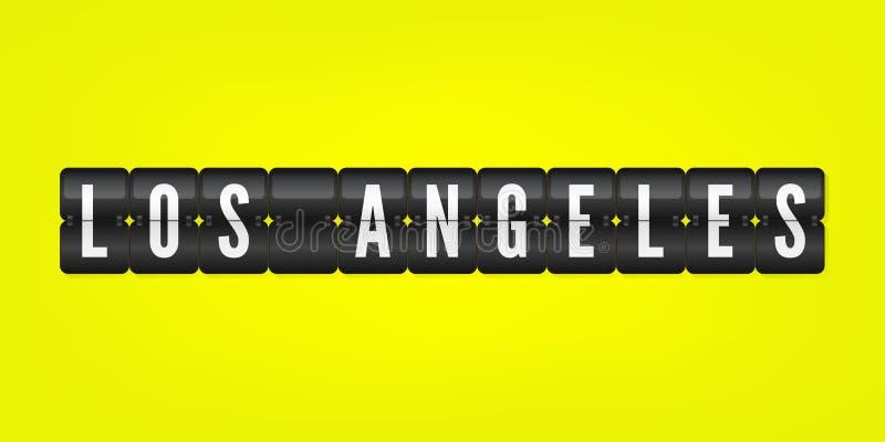 Symbol för Los Angeles isolerat amerikanskt stadsflip Illustration för vektorfunktionskortsymbol Tecken Kalifornien för internati stock illustrationer