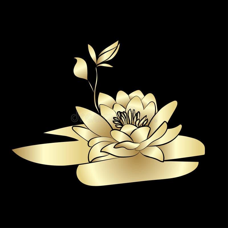 Symbol för Lotus blommor royaltyfri illustrationer