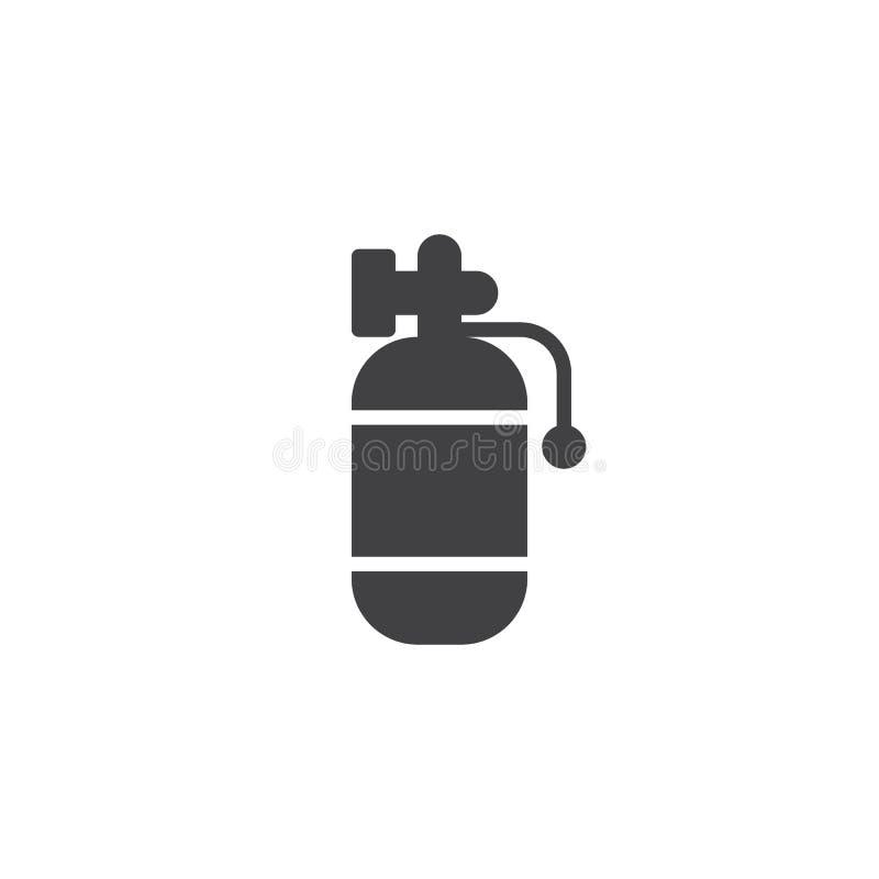 Symbol för luftbehållarevektor royaltyfri illustrationer
