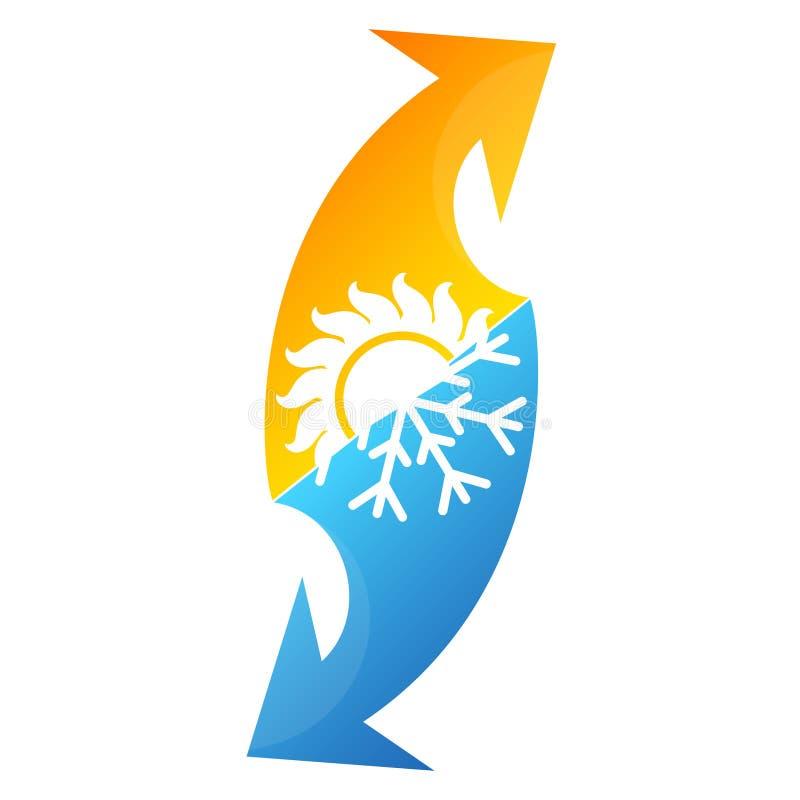 Symbol för luftkonditioneringsapparat stock illustrationer