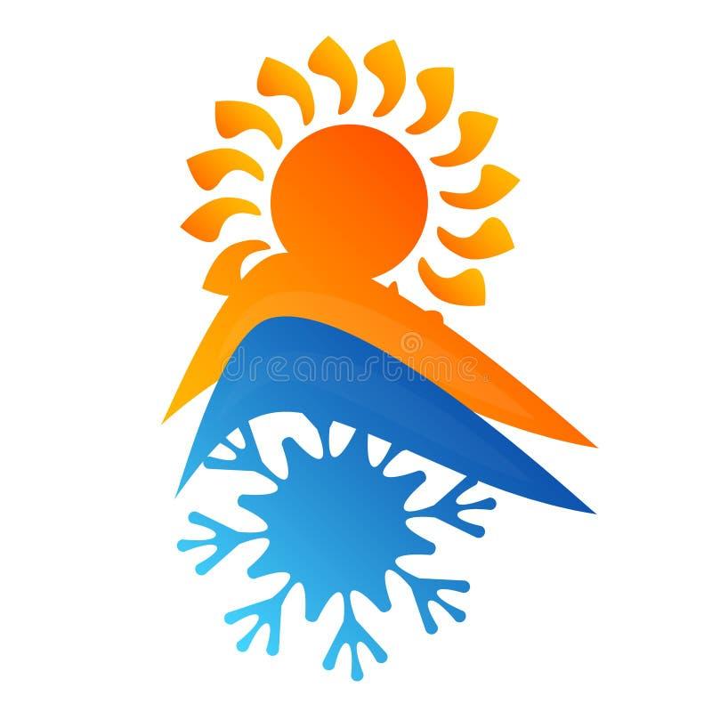 Symbol för luftkonditioneringsapparathus royaltyfri illustrationer