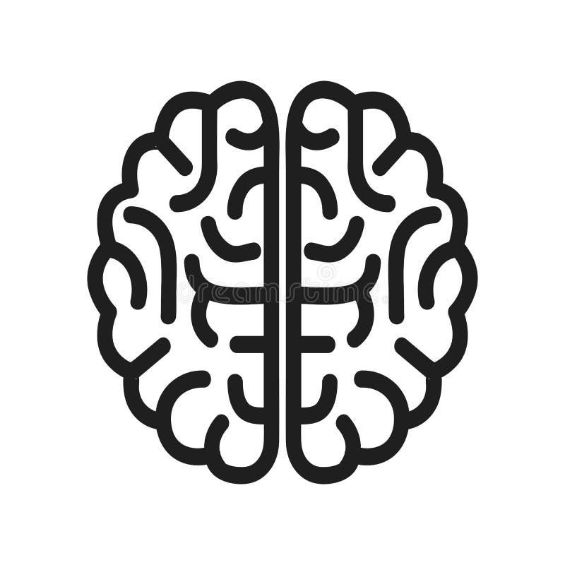 Symbol för mänsklig hjärna - vektor vektor illustrationer