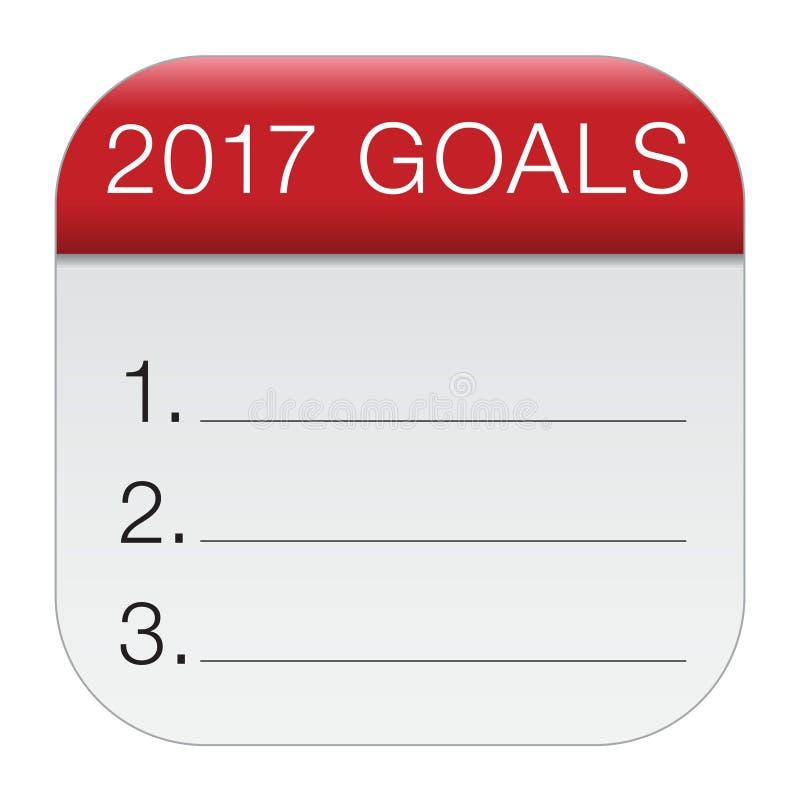 symbol för 2017 mål vektor illustrationer