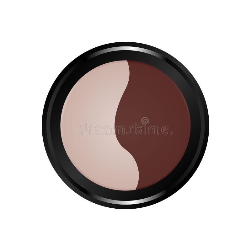 Symbol för makeupsatsfärg cosmetic royaltyfri illustrationer