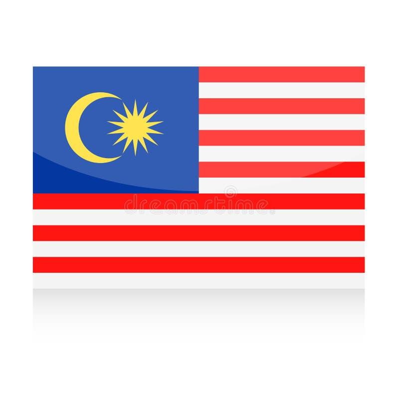 Symbol för Malaysia flaggavektor stock illustrationer