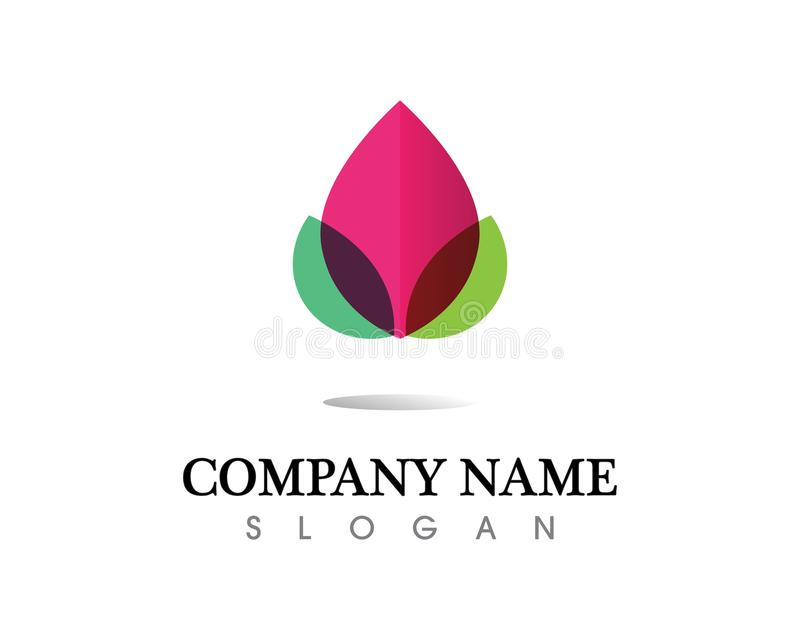 Symbol för mall för logo för design för skönhetvektorblommor royaltyfri illustrationer