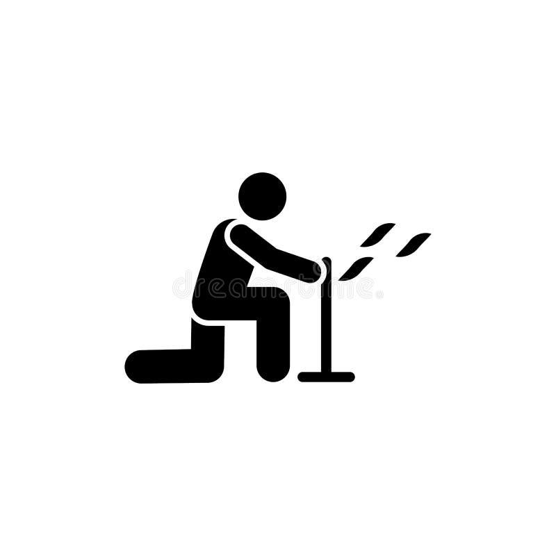 Symbol för manflygaffärsföretag Beståndsdel av pictogramaffärsföretagillustrationen stock illustrationer