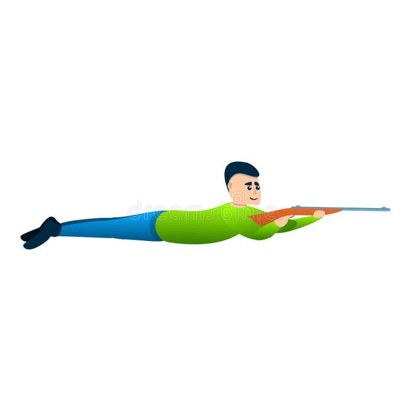 Symbol för manskyttegevär, tecknad filmstil vektor illustrationer
