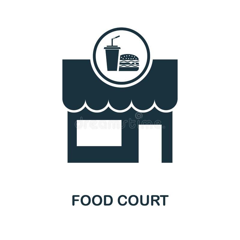 Symbol för matdomstol Monokrom stildesign från samling för stadsbeståndsdelsymbol Ui För pictogrammat för PIXEL perfekt enkel sym stock illustrationer