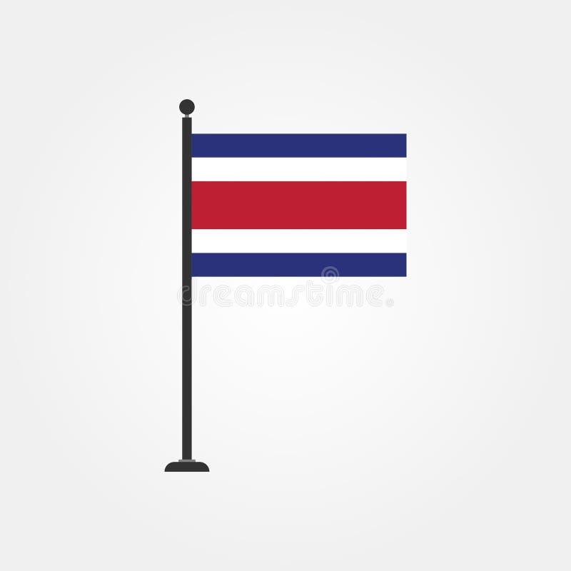 Symbol 3 för materielvektorCosta Rica flagga royaltyfri illustrationer