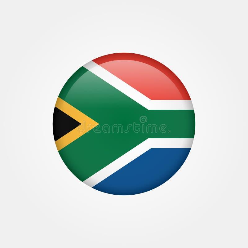 Symbol 5 för materielvektorSydafrika flagga royaltyfri illustrationer