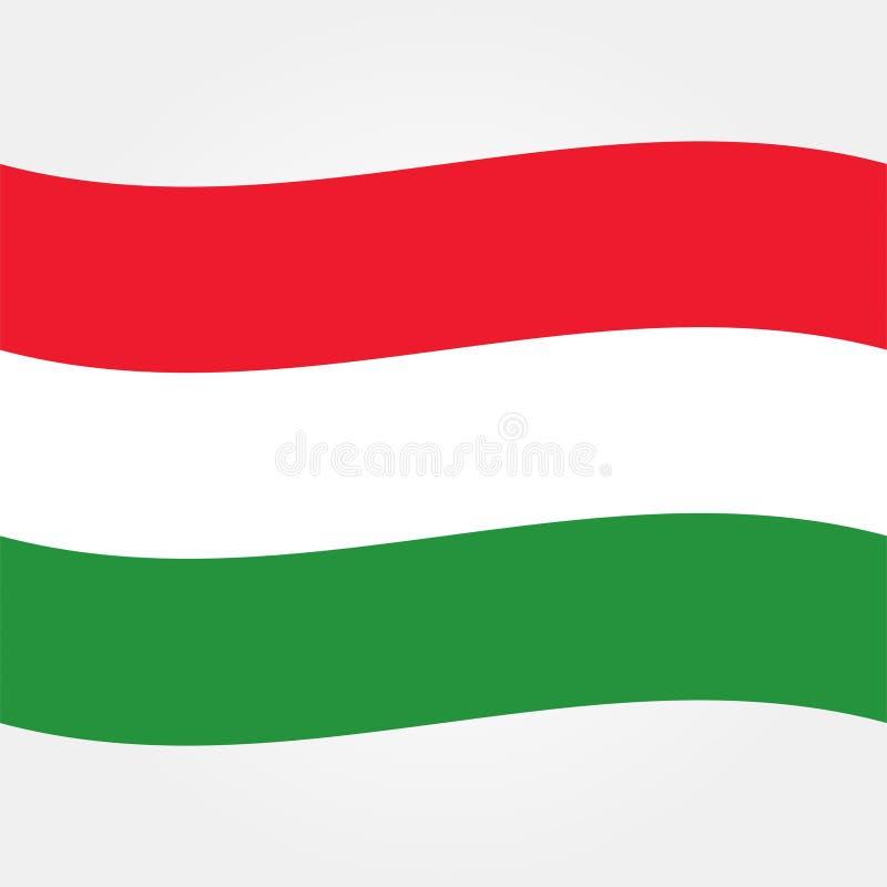 Symbol 2 för materielvektorUngern flagga vektor illustrationer