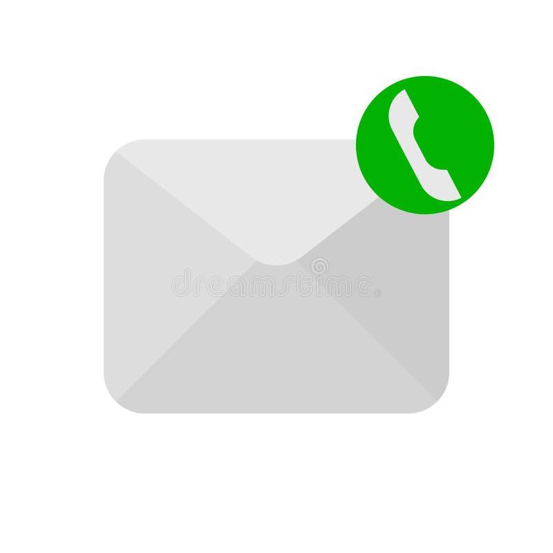 Symbol för meddelandetelefontelefonlur vektor illustrationer