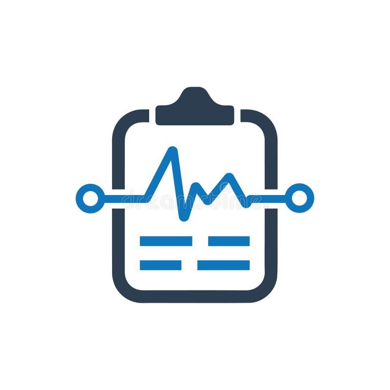 Symbol för medicinskt prov stock illustrationer
