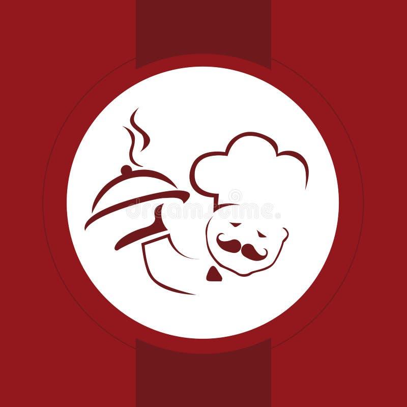 Symbol för menydesign stock illustrationer