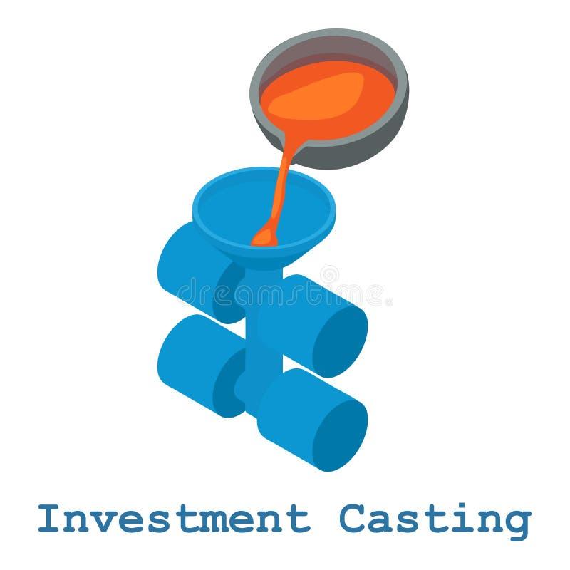 Symbol för metallarbete för investeringrollbesättning, isometrisk stil 3d royaltyfri illustrationer