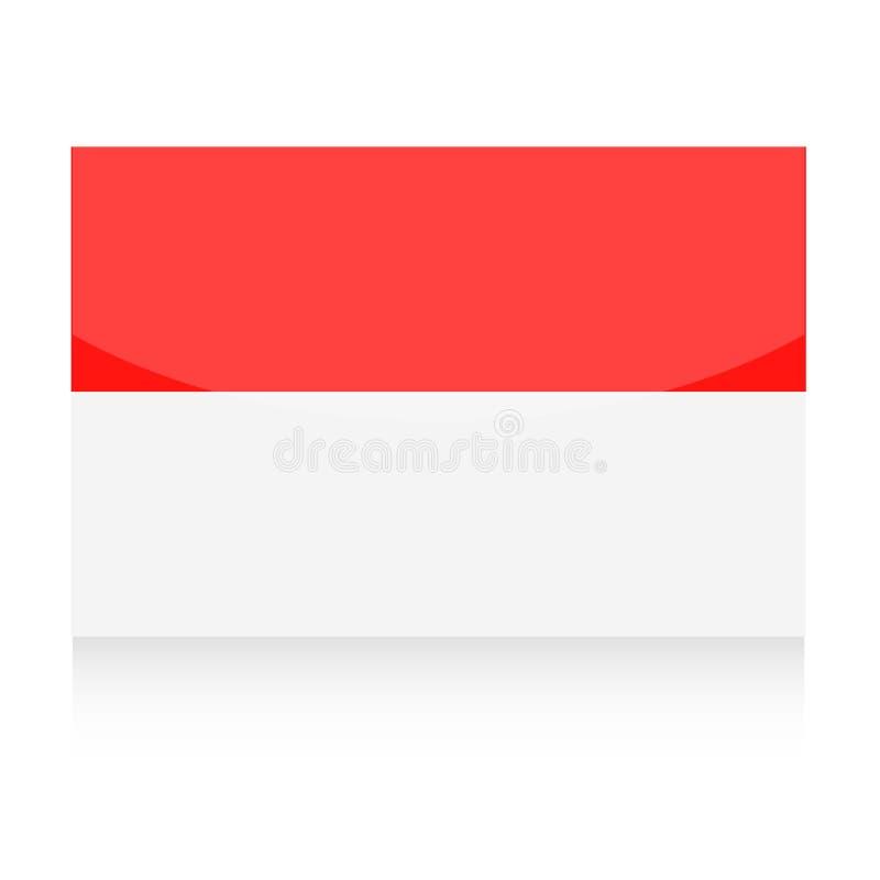 Symbol för Monaco flaggavektor vektor illustrationer