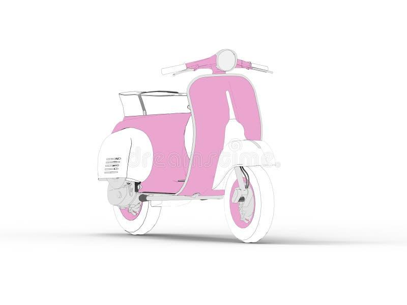 Symbol för motorisk sparkcykel för attraktion royaltyfri illustrationer