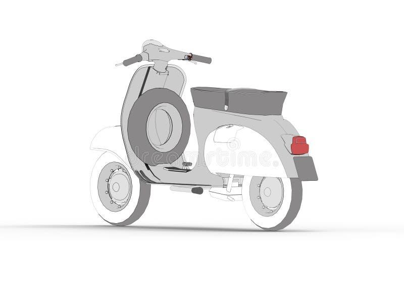 Symbol för motorisk sparkcykel för attraktion vektor illustrationer