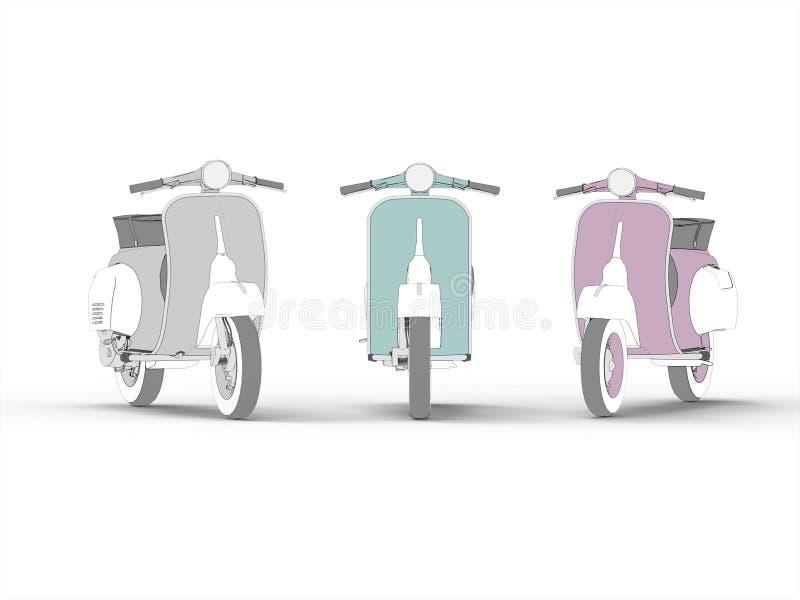 Symbol för motorisk sparkcykel för attraktion stock illustrationer