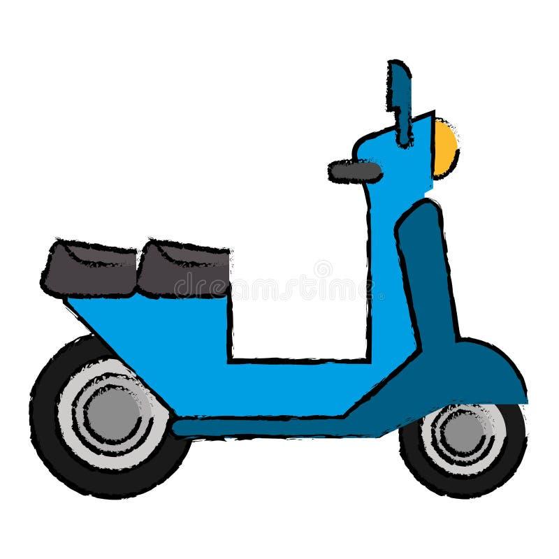 symbol för motorisk transport för leveranssparkcykel royaltyfri illustrationer