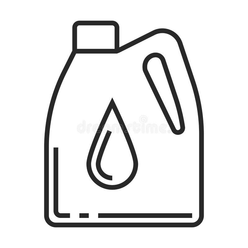 Symbol för motorolja vektor illustrationer