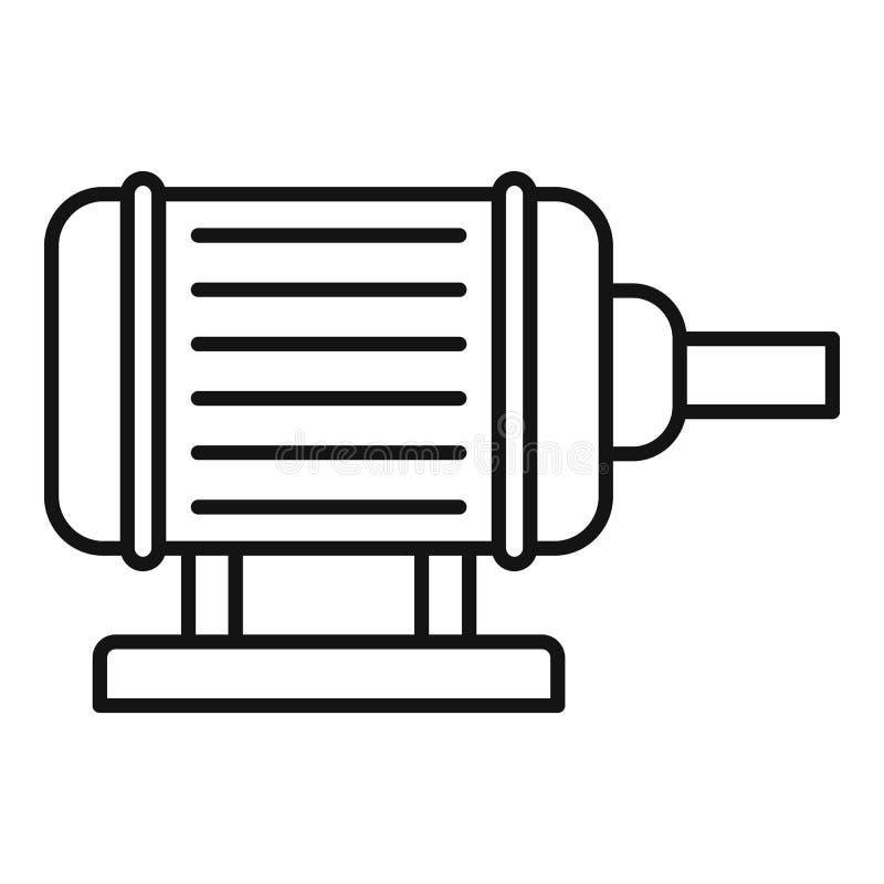 Symbol för motorpumpbevattning, översiktsstil stock illustrationer