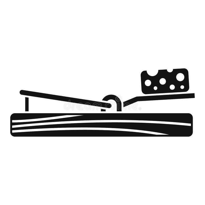 Symbol för musfällaost, enkel stil vektor illustrationer