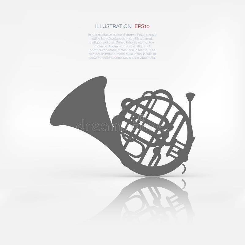 Symbol för musikblåsinstrumentrengöringsduk vektor illustrationer