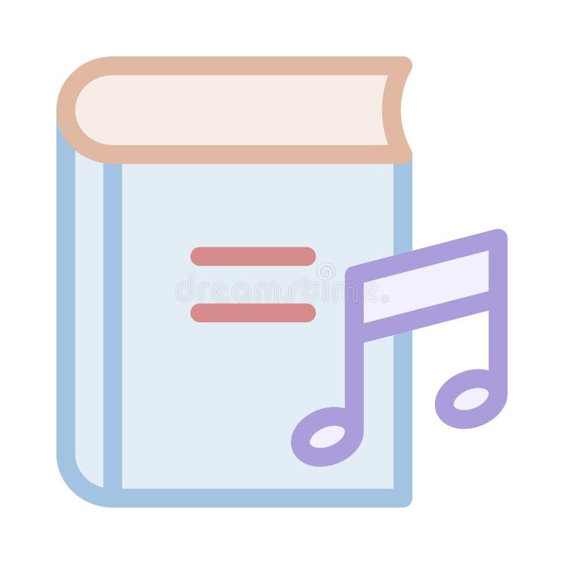 Symbol för musikbok stock illustrationer
