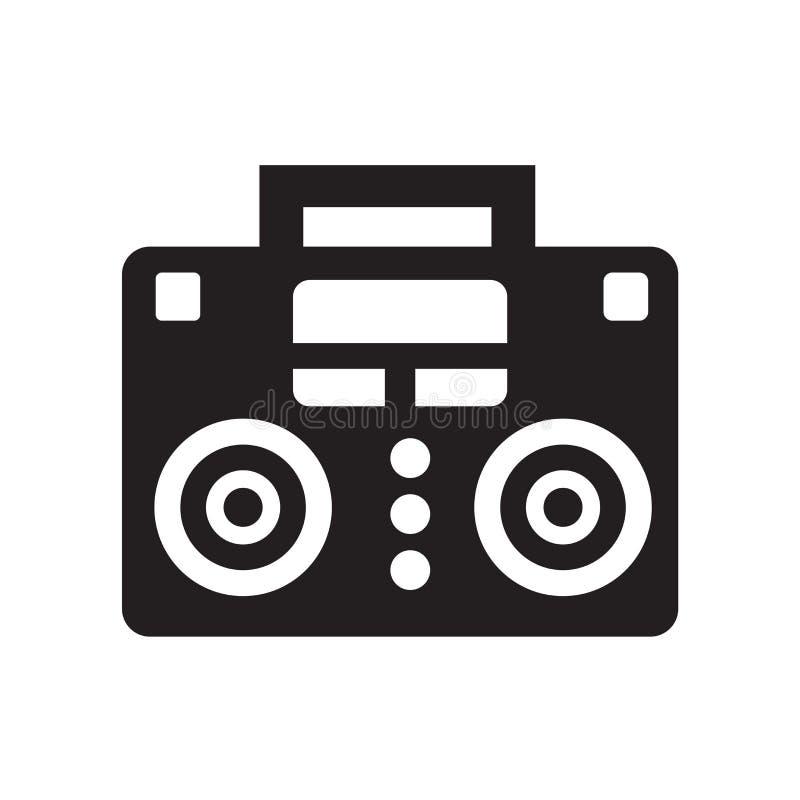 Symbol för musikspelare som isoleras på vit bakgrund vektor illustrationer