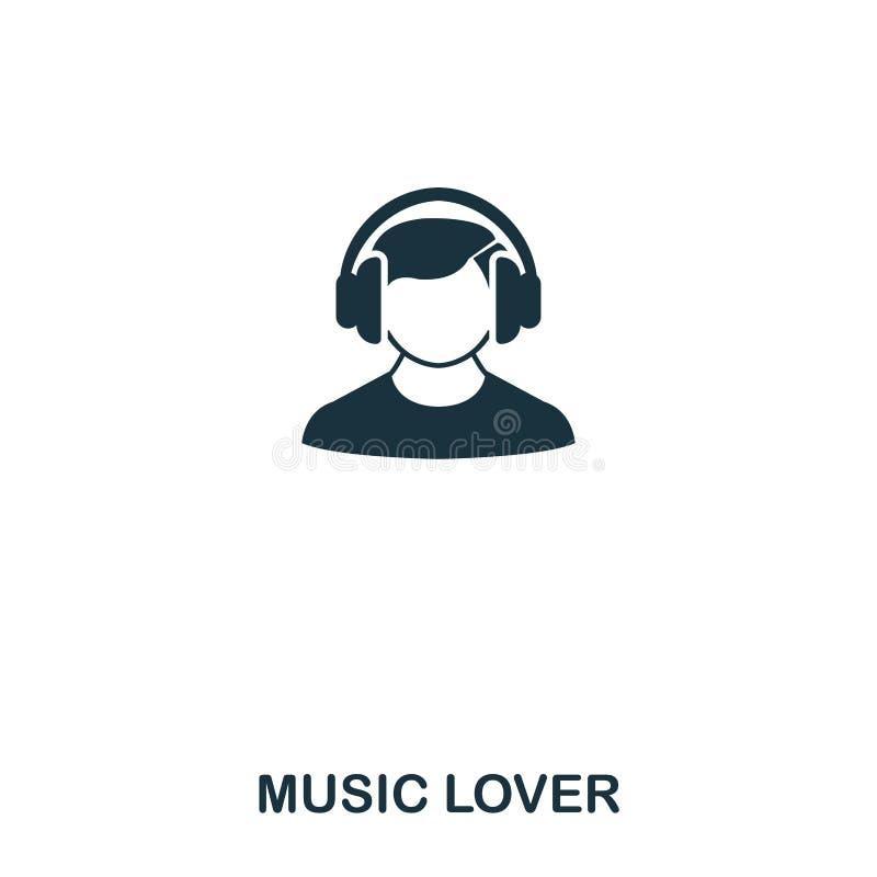 symbol för musikvän Linje stilsymbolsdesign Ui Illustration av symbolen för musikvän pictogram som isoleras på vit Ordna till för vektor illustrationer