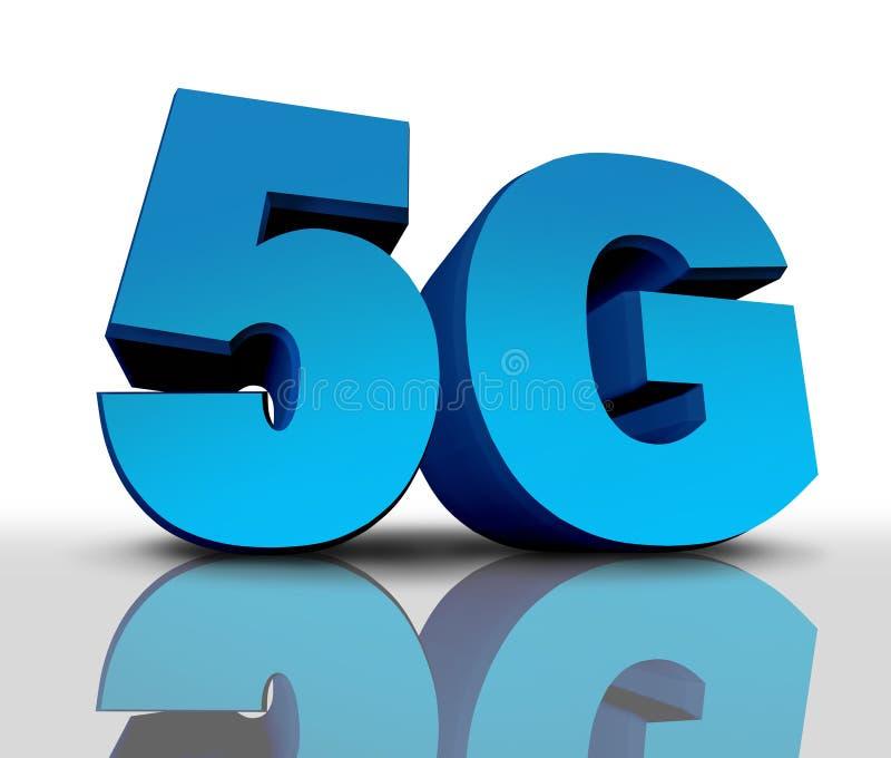 symbol för nätverk 5G stock illustrationer