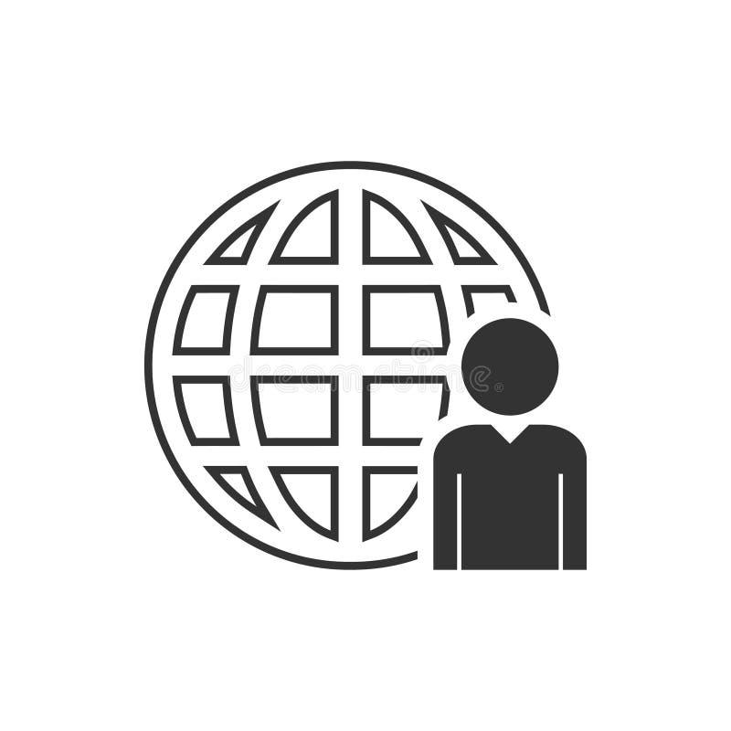Symbol för nätverksadministratör framlänges royaltyfri illustrationer