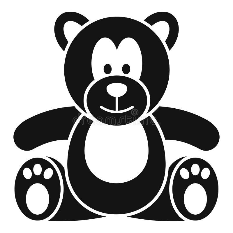 Symbol för nallebjörn, enkel stil vektor illustrationer