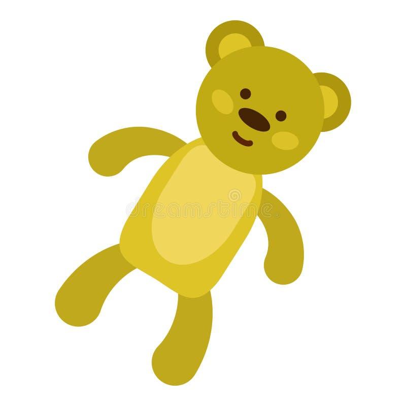 Symbol för nallebjörn, lägenhetstil vektor illustrationer