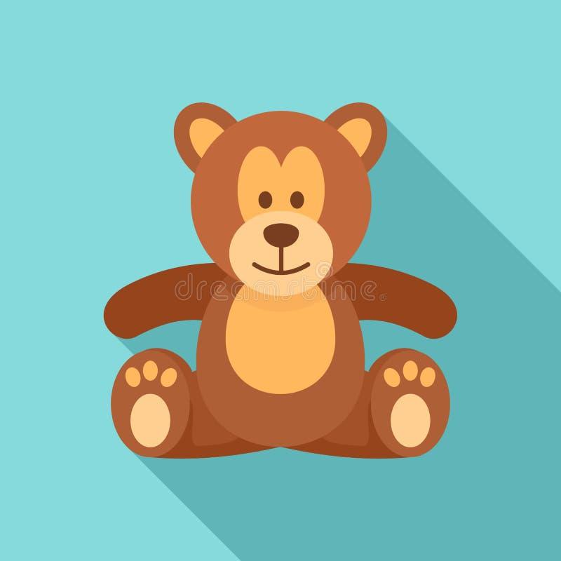 Symbol för nallebjörn, lägenhetstil stock illustrationer