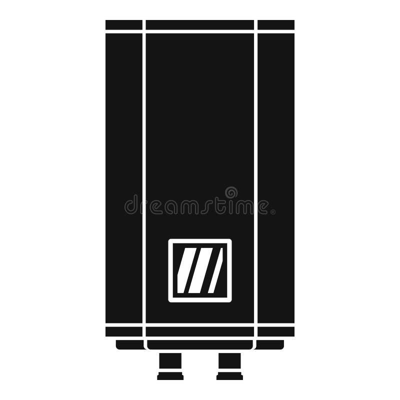 Symbol för naturgaskokkärl, enkel stil stock illustrationer