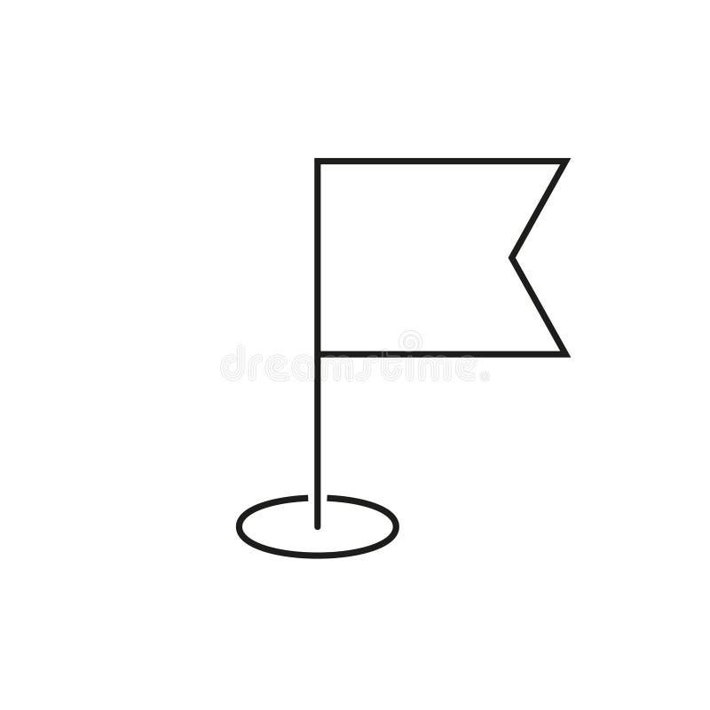 Symbol för navigeringflaggaöversikt royaltyfri illustrationer