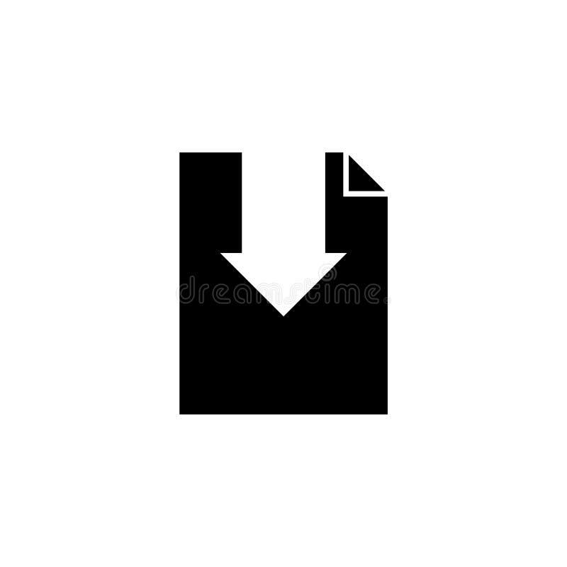 Symbol för nedladdningrengöringsdukdesign som isoleras på vit bakgrund vektor illustrationer