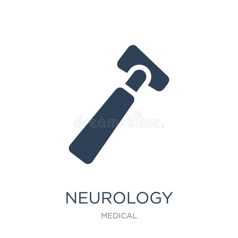 symbol för neurologireflexhammare i moderiktig designstil symbol för neurologireflexhammare som isoleras på vit bakgrund Neurolog vektor illustrationer
