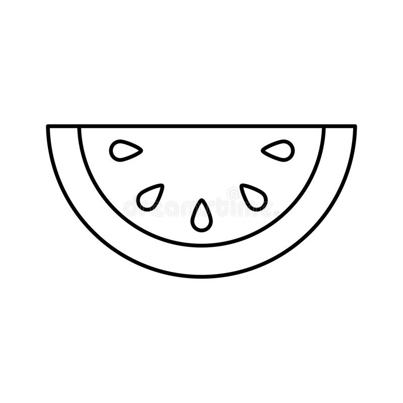 Symbol för ny frukt för melon vektor illustrationer