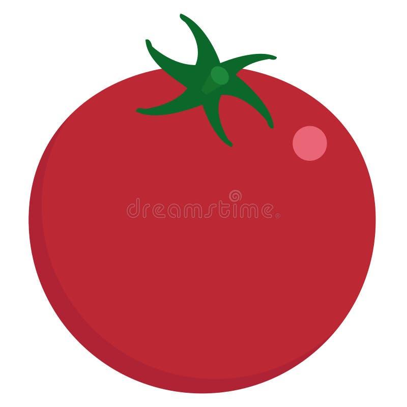 Symbol för ny grönsak för tomat, vektorillustration royaltyfri illustrationer