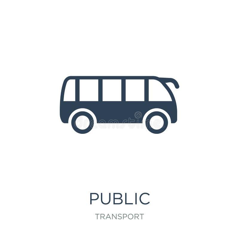 symbol för offentligt trans. i moderiktig designstil symbol för offentligt trans. som isoleras på vit bakgrund offentligt trans vektor illustrationer
