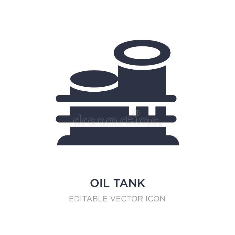 symbol för oljabehållare på vit bakgrund Enkel beståndsdelillustration från branschbegrepp vektor illustrationer